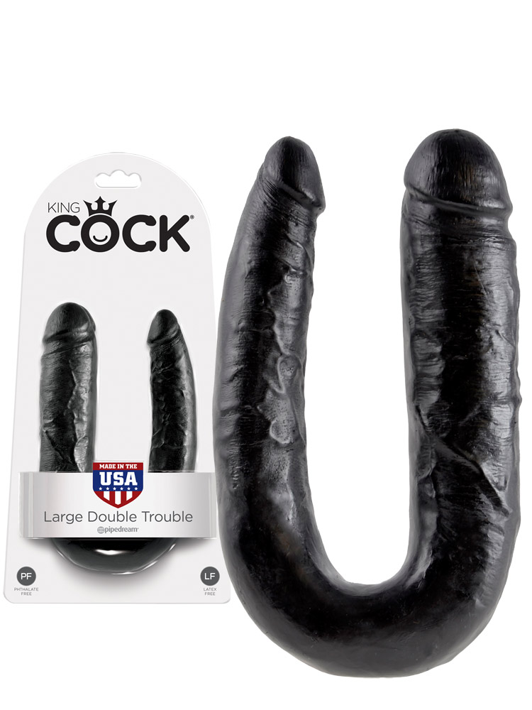 King Cock - Large Double Trouble Black