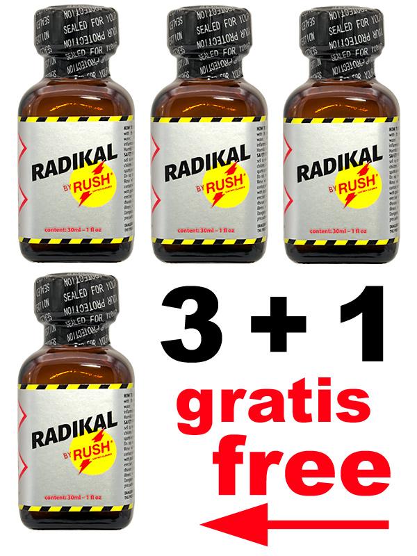 3 + 1 RADIKAL RUSH big square bottle