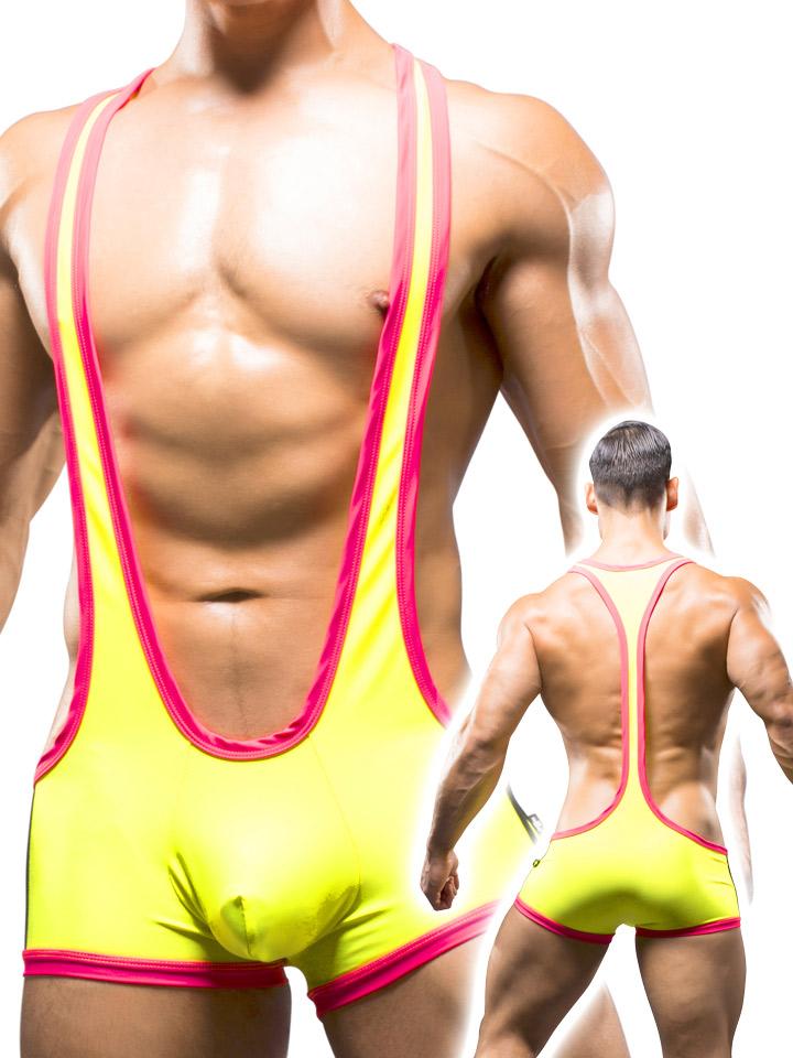 Andrew Christian - Wrestling Singlet Neon Yellow