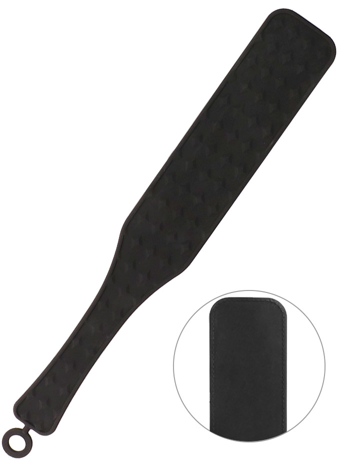 OUCH! Silicone Textured Paddle - Black