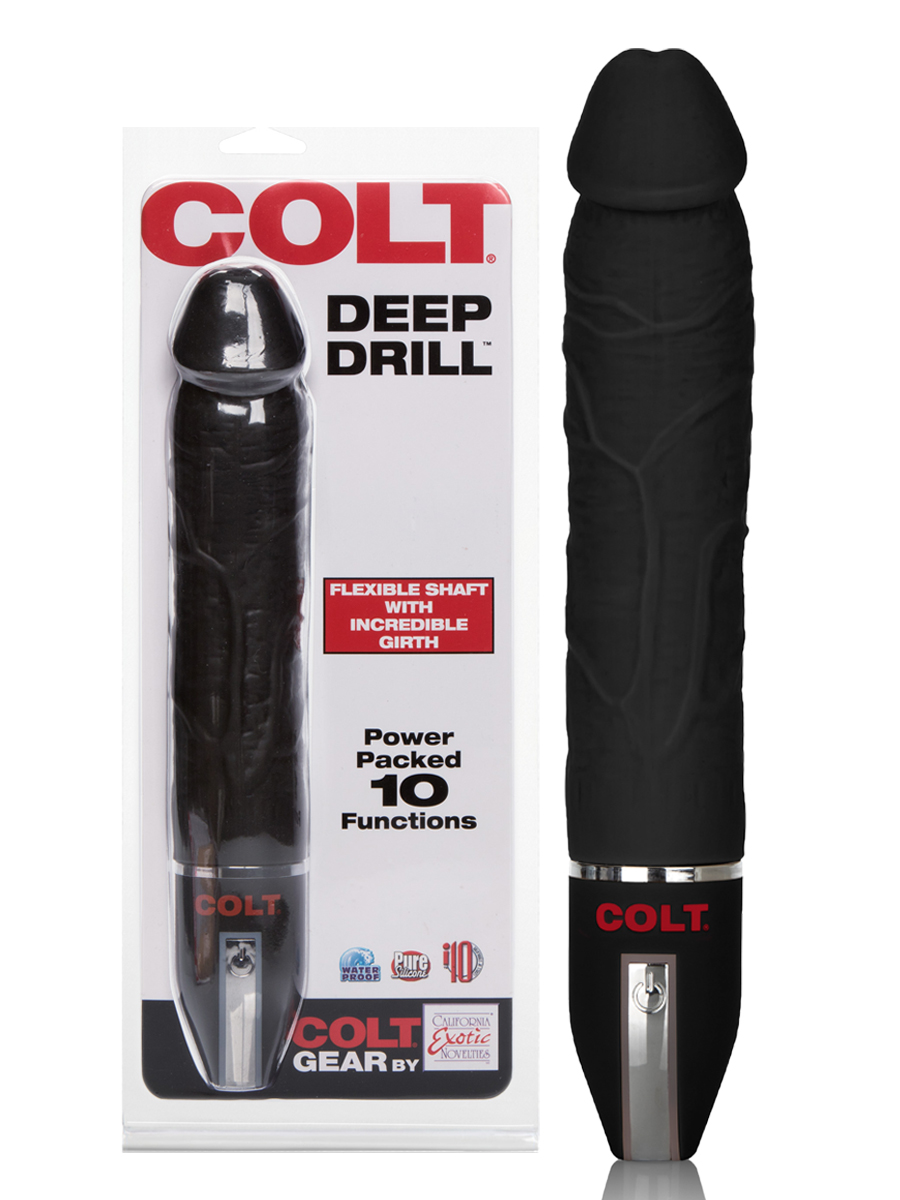 COLT - 10 Functions Deep Drill Anal Vibe - black