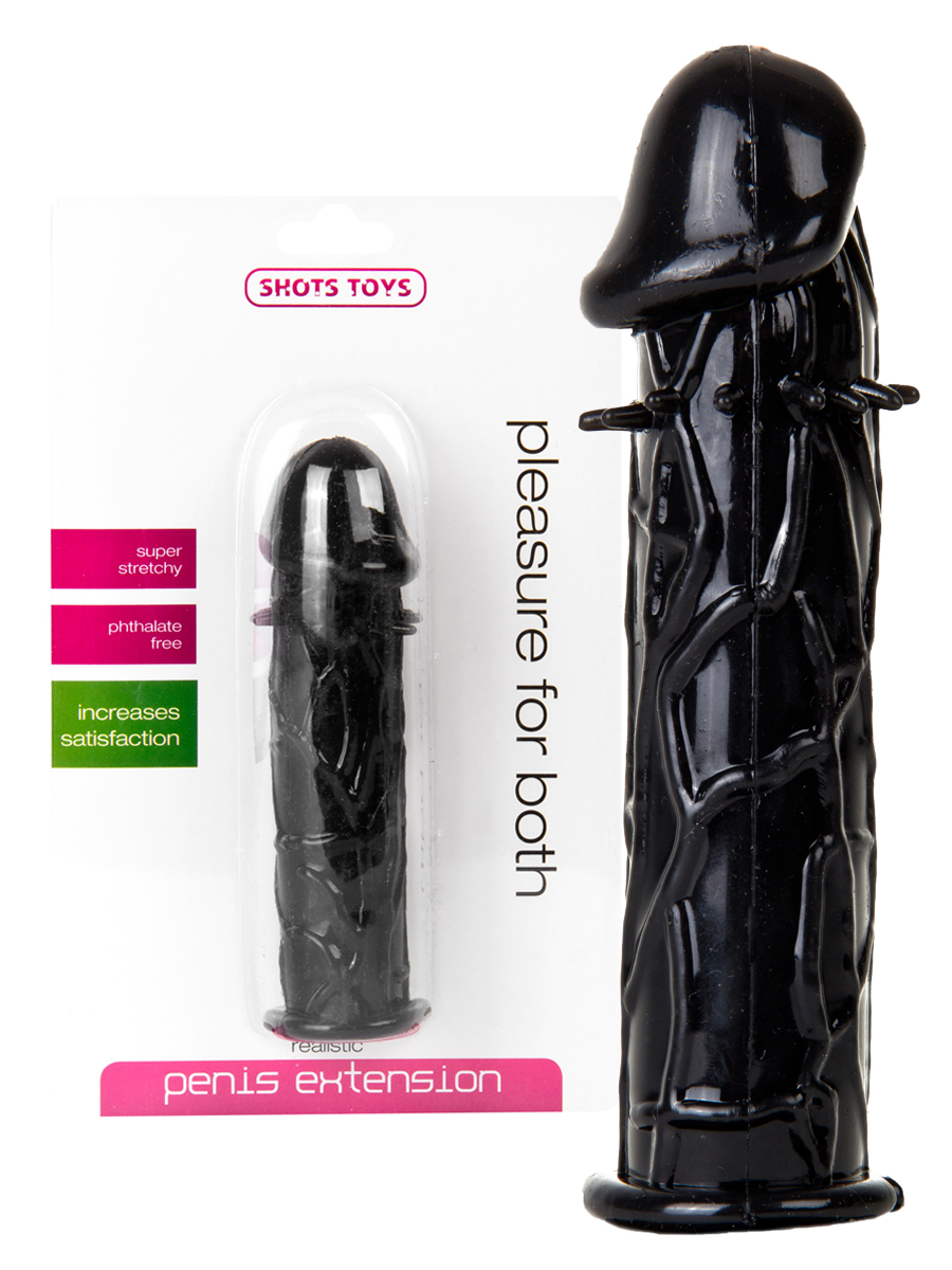 Realistic Penis Extension Black
