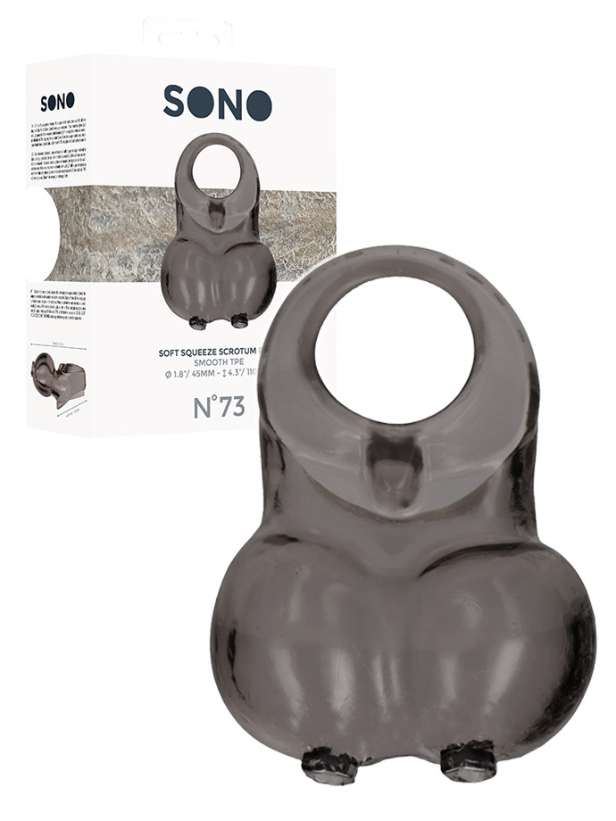 Soft Squeeze Scrotum Ring - SONO No.73 - Black