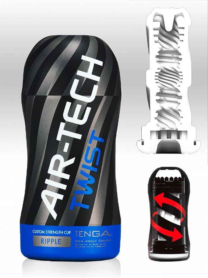 Tenga - Air-Tech Twist Reusable Vacuum Cup Masturbator - Ripple