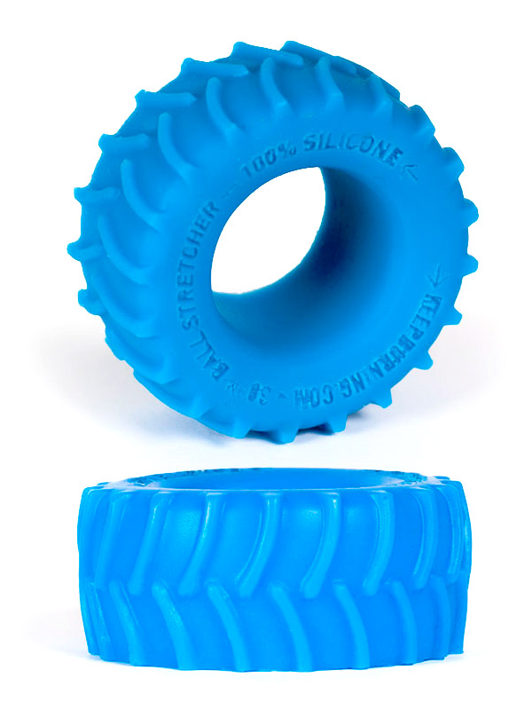 Burning Wheels 100% Silicone Cockring CK02 Blue
