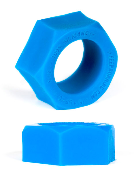 Burning Wheels 100% Silicone Cockring CK06 Blue
