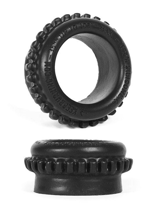 Burning Wheels 100% Silicone Cockring CK09 Black