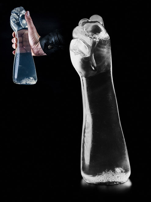 Dark Crystal Clear Fist Dildo DCC26