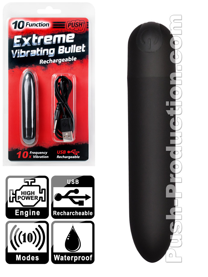10 Function Extreme Vibrating Bullet - Rechargeable