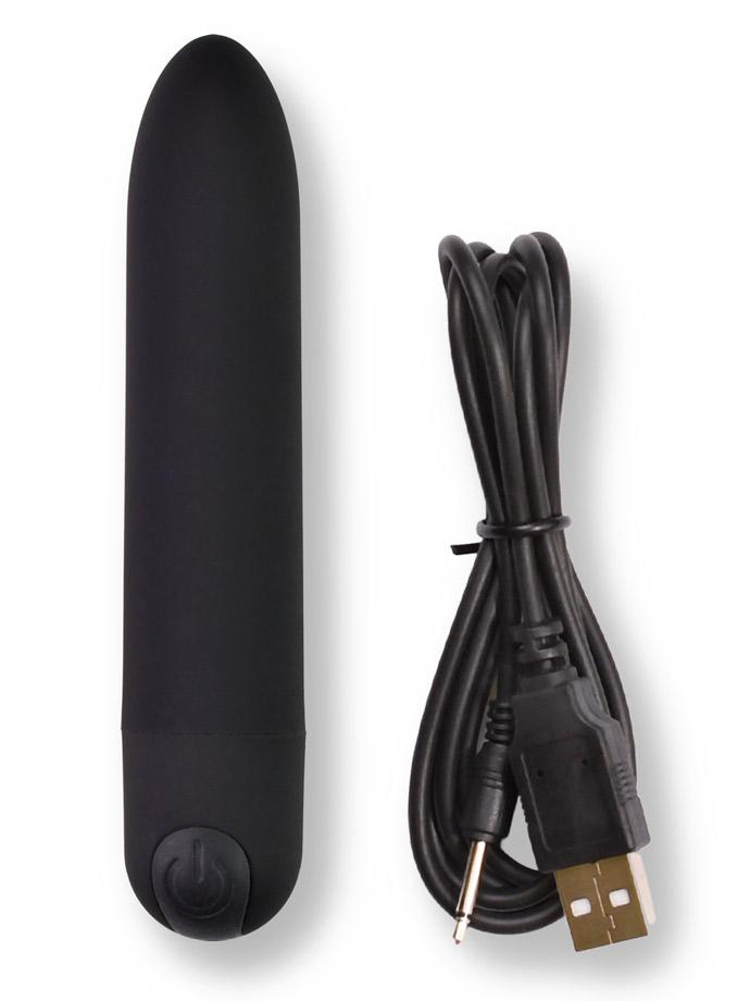 10 Speed Mega Vibrating Rechargeable Power Bullet - Black