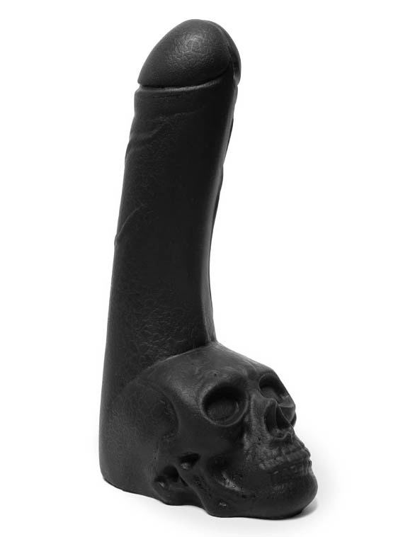 Keep Burning Cock Skull Dildo Black