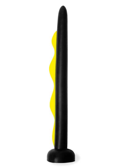 Keep Burning Wavemaker Dildo Black/Yellow
