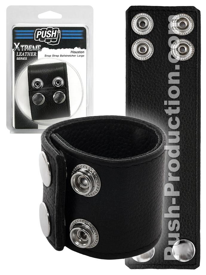 Push Xtreme Leather - Houston Snap Strap Ballstretcher Large