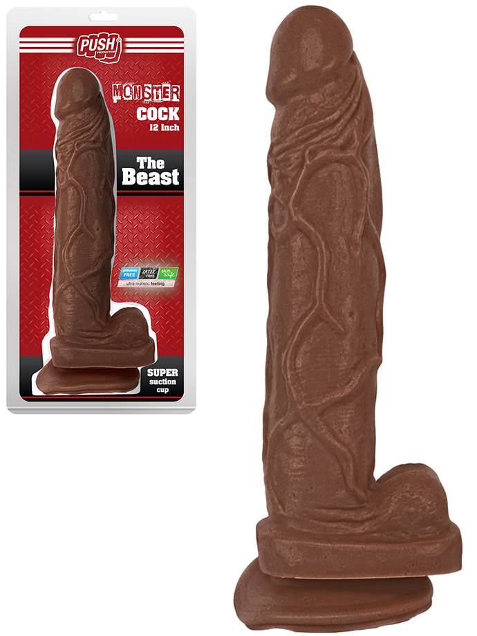 Buy Push Monster Cock The Beast 12 Inch Brown