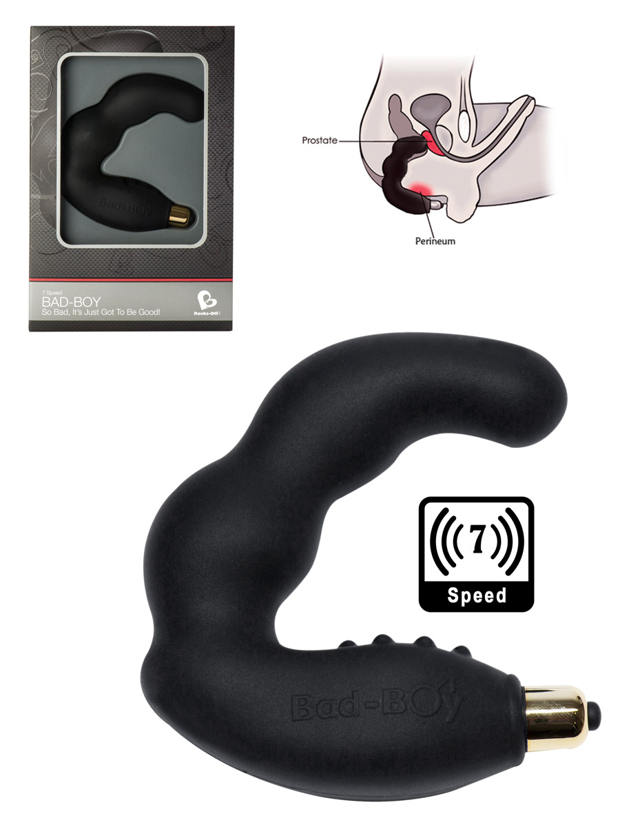 7 Speed Bad Boy Prostate Massager - Black