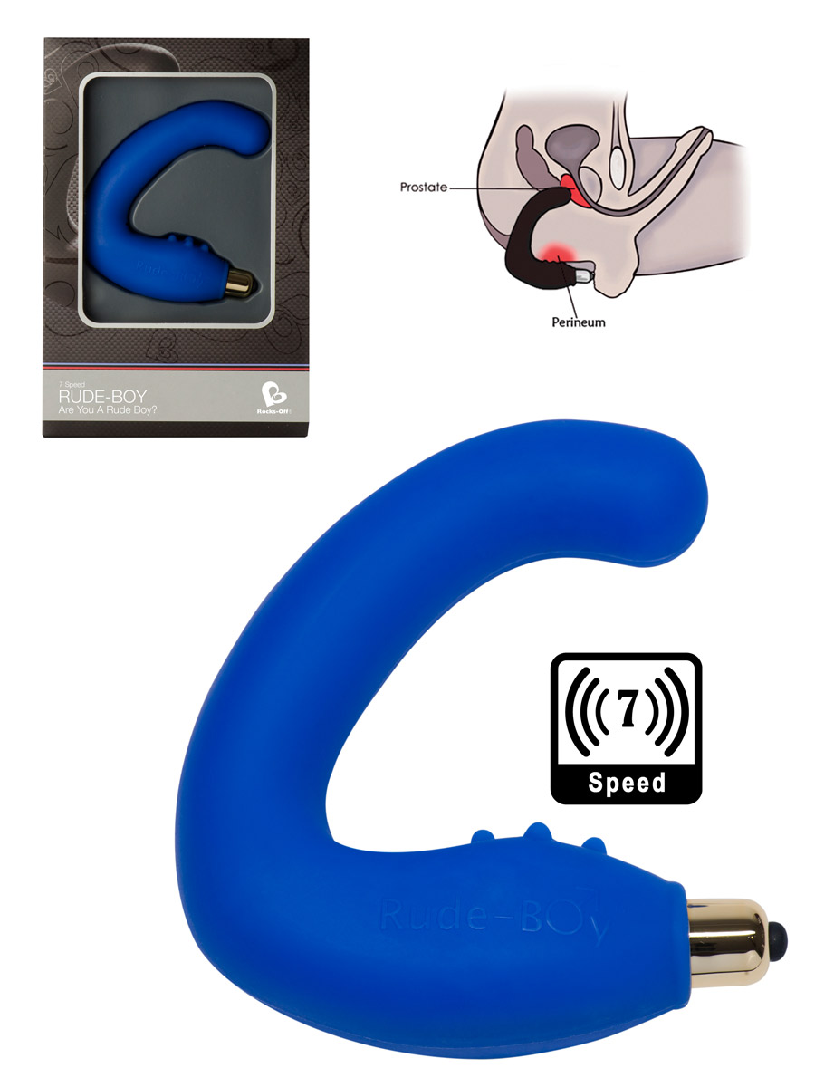 7 Speed Rude Boy Prostate Massager - Blue