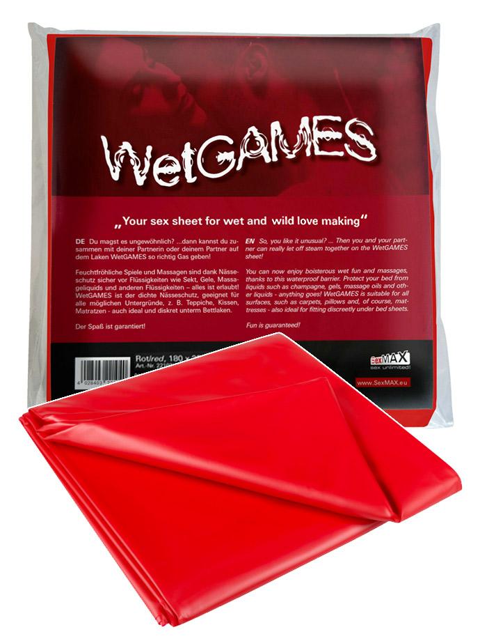 WetGAMES Sex-Sheet - Red 180x220 cm