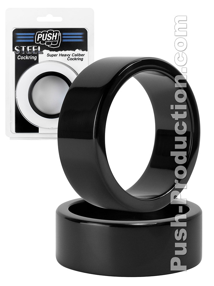 Push Steel - Super Heavy Caliber Cockring Black