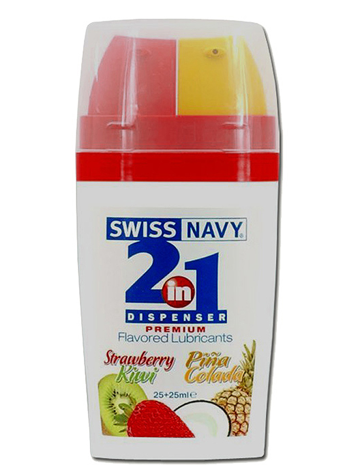 Swiss Navy 2 in 1 Flavored Lubricants Strawberry Kiwi /Pina Cola