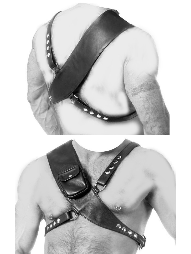 Leather Body Harness With Pocket