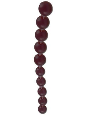 Jumbo Jelly Thai Beads - Black