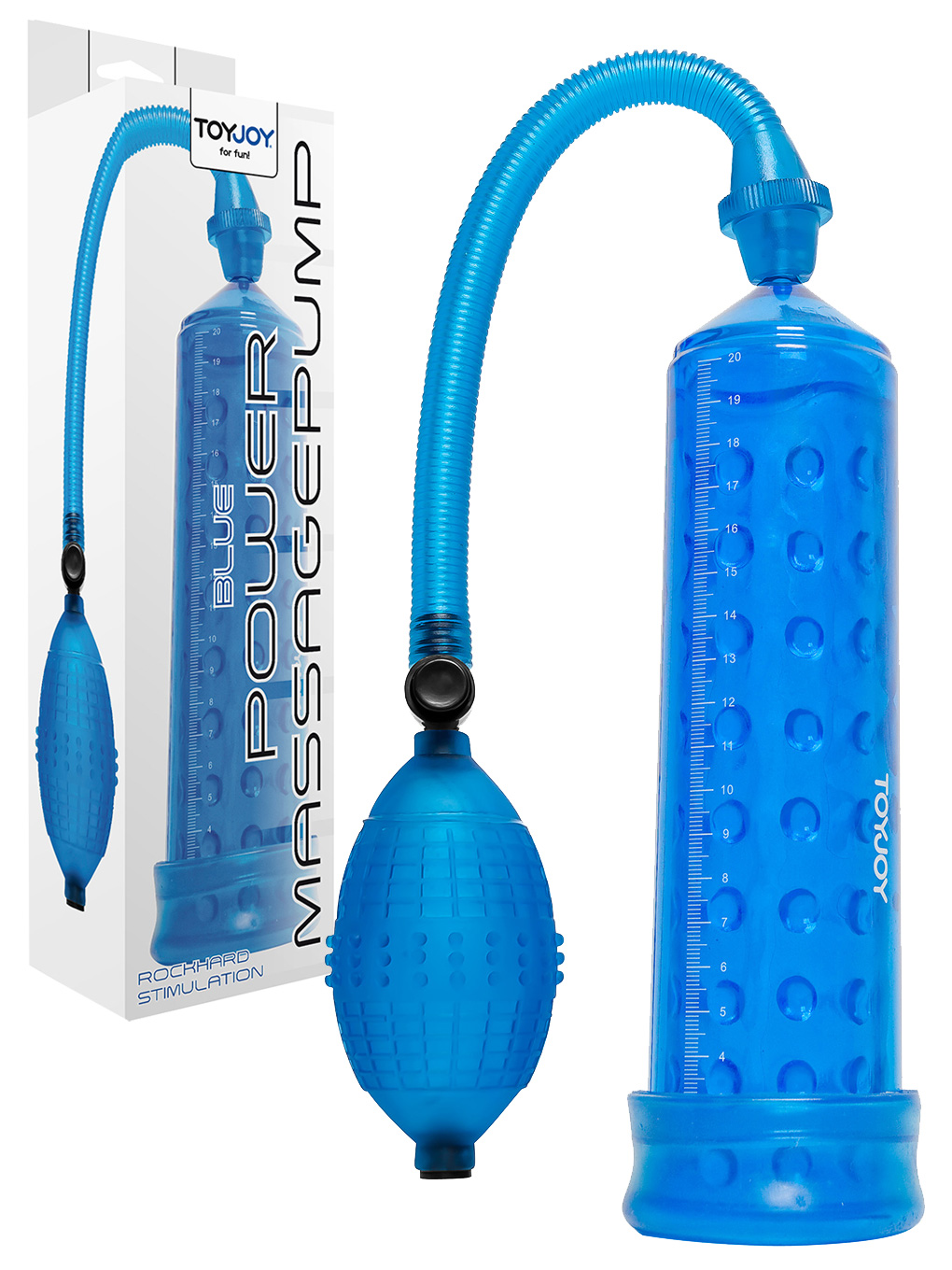 Power Massage Pump with Sleeve - Blue