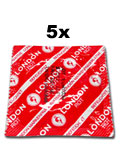 5 x London Condoms - Red with strawberry flavor