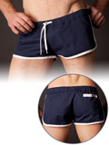 Barcode Gym Short Navy/White