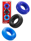 Hünkyjunk - C-Ring Multipack - Black + Cobalt + Navy