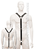 Black Leather Mens Y Harness